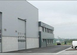 Stahlbau-Halle Alho Systembau München