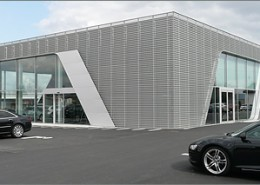 Stahlkonstruktion Audi-Terminal Backnang