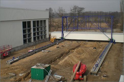 Stahlkonstruktion als Transportsystem