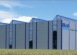 Produktionshalle mit Hochregallager Bikar Aluminium Gera