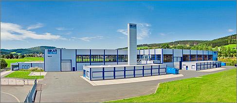Zuschnitthalle mit Hochregal für Bikar Metalle, Bad Berleburg