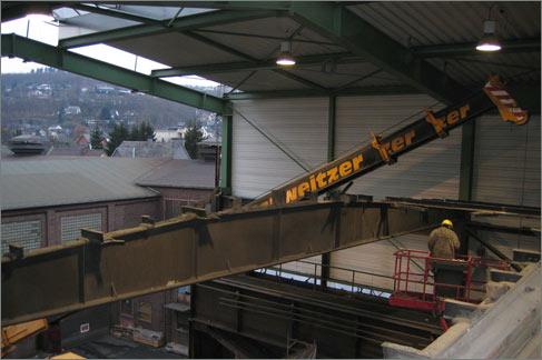 Sanierung Produktionshalle Walzengießerei Buch Siegen