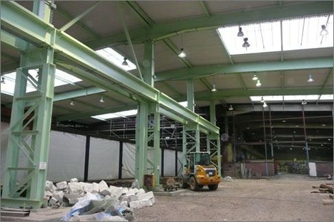 Überbauung Produktionshalle Risse + Wilke Iserlohn