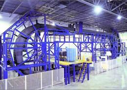 Stahlbau-Sonderkonstruktion für Schaumstoffverarbeitung