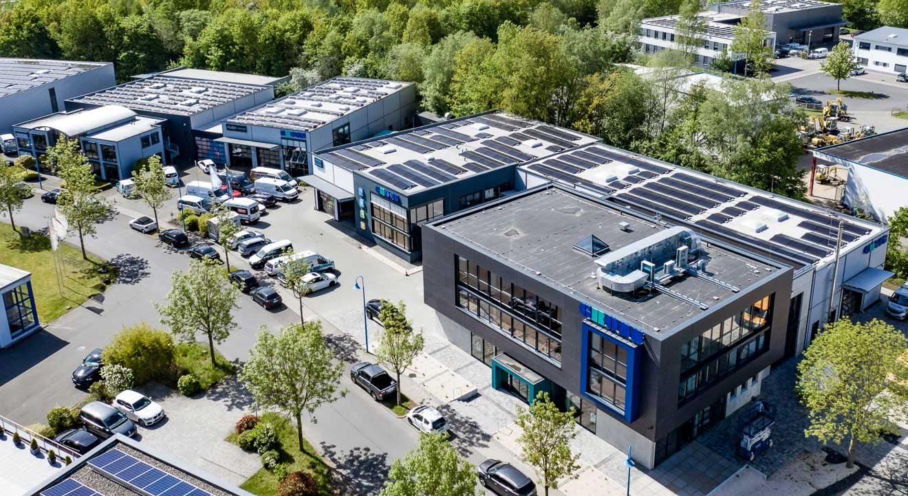 Neubau Lagerhalle Gross GmbH Wettenberg Luftaufnahme